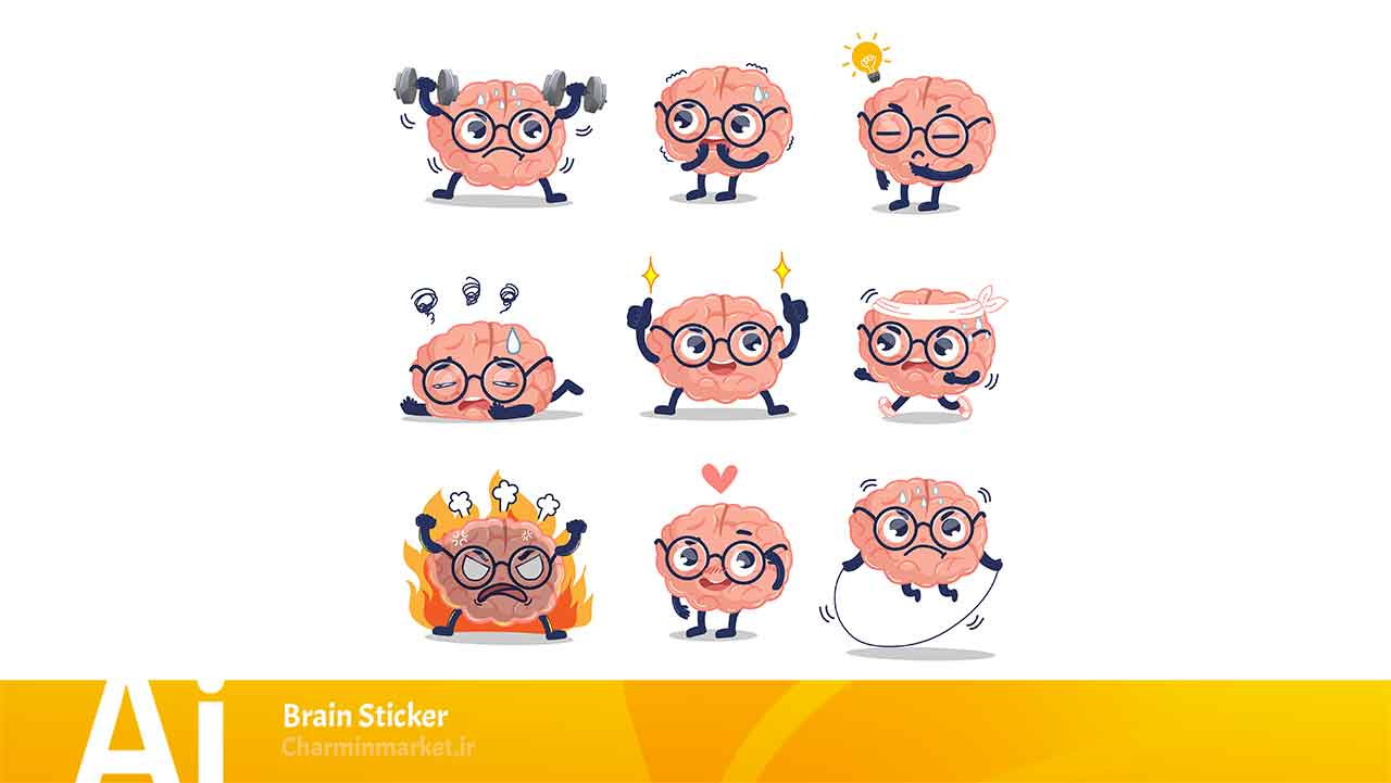 ۱۱۱۸ brain sticker charminmarket image